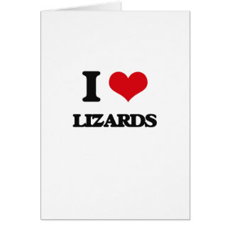 Eu amo lagartos cartão comemorativo