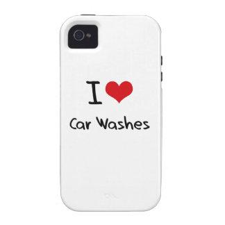 Eu amo lavagens de carros
