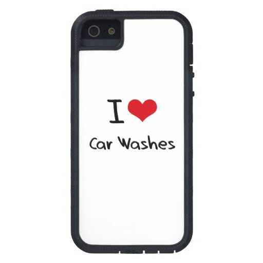 Eu amo lavagens de carros capa de iPhone 5 Case-Mate