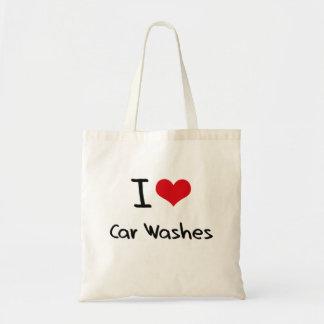 Eu amo lavagens de carros bolsa