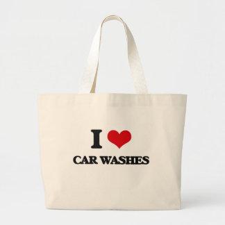 Eu amo lavagens de carros bolsa para compras