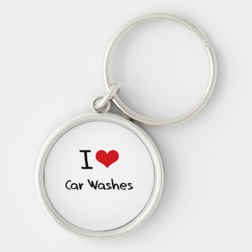 Eu amo lavagens de carros chaveiros