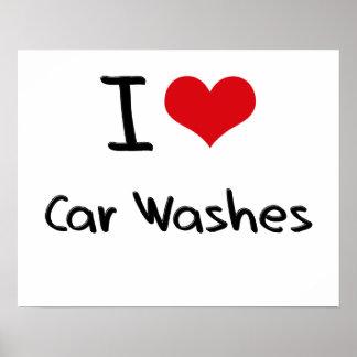Eu amo lavagens de carros poster