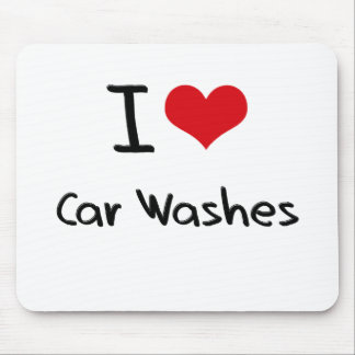 Eu amo lavagens de carros mousepads