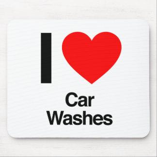 eu amo lavagens de carros mousepad