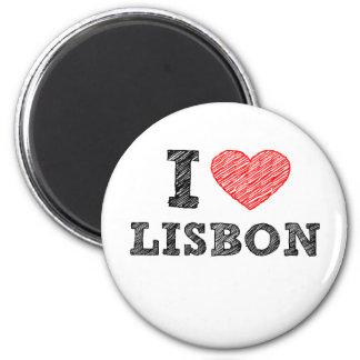 Eu amo Lisboa Ímã Redondo 5.08cm