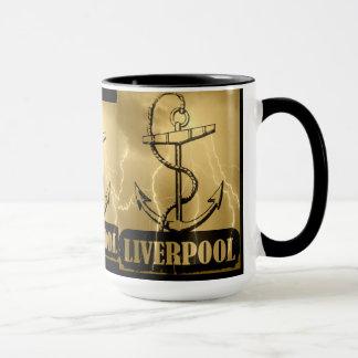 Eu amo Liverpool - caneca do vintage
