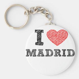 Eu amo Madrid Chaveiro