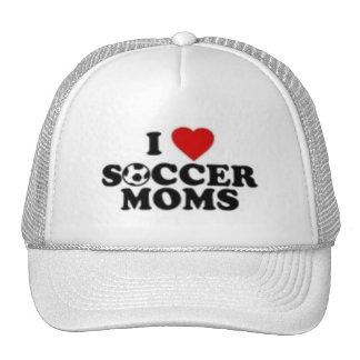 Eu amo mães do futebol boné