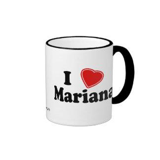 Eu amo Mariana Caneca Com Contorno