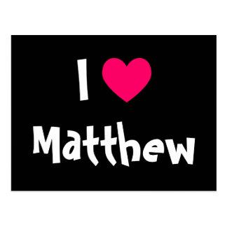 Eu amo Matthew Cartão Postal