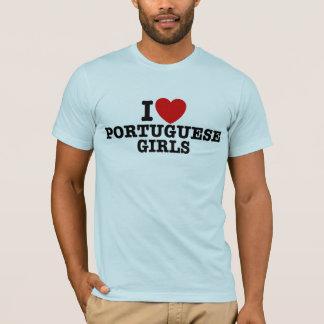 Eu amo meninas portuguesas t-shirts