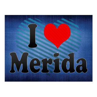 Eu amo Merida, México Cartão Postal
