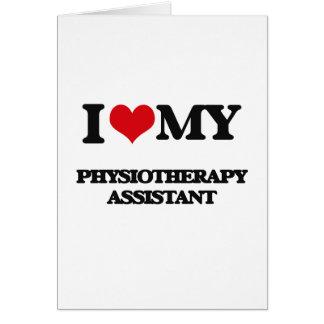Eu amo meu assistente da fisioterapia cartao