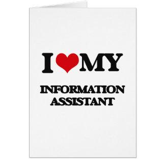 Eu amo meu assistente da informação cartoes