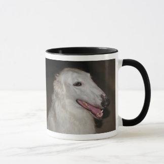 Eu amo meu Borzoi! Caneca de café