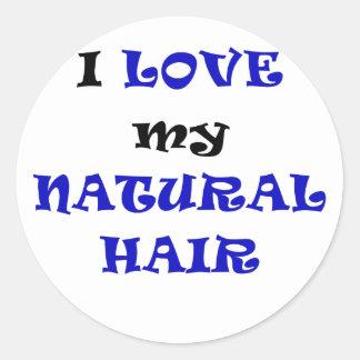 Eu amo meu cabelo natural adesivo