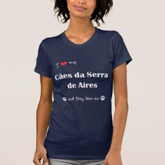 Eu amo meu Caes a Dinamarca Serra de Aires os cãe Camisetas
