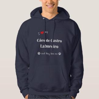 Eu amo meu Caes de Castro Laboreiro (os cães Moletom Com Capuz