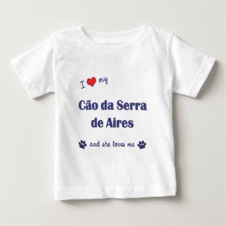 Eu amo meu Cao a Dinamarca Serra de Aires (o cão Camiseta Para Bebê