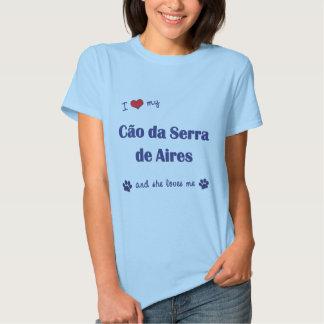 Eu amo meu Cao a Dinamarca Serra de Aires (o cão Camisetas