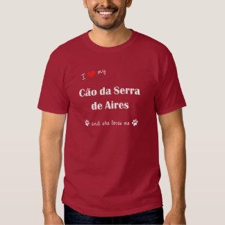 Eu amo meu Cao a Dinamarca Serra de Aires (o cão f Tshirts