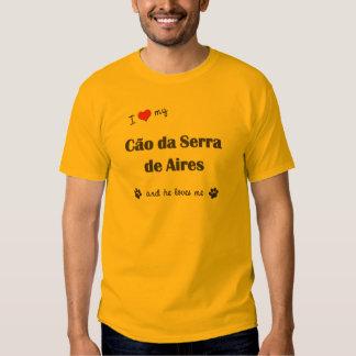 Eu amo meu Cao a Dinamarca Serra de Aires (o cão T-shirt