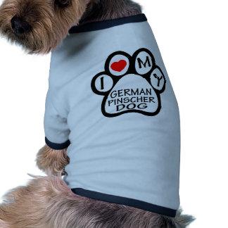 Eu amo meu cão alemão do Pinscher Roupa Para Pets