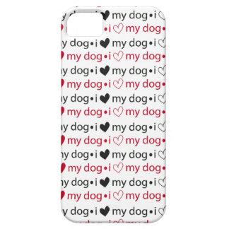 Eu amo meu cão com corações capa iPhone 5 Case-Mate