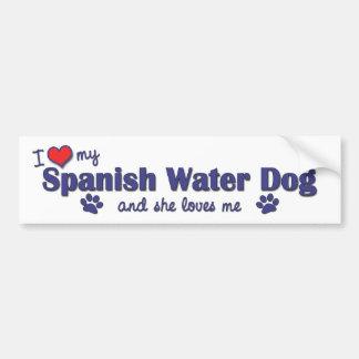 Eu amo meu cão de água espanhol (o cão fêmea) adesivo para carro