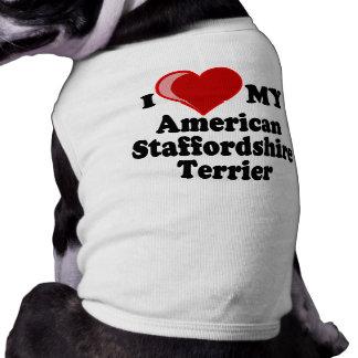 Eu amo meu cão de Staffordshire Terrier americano Roupa Para Caes