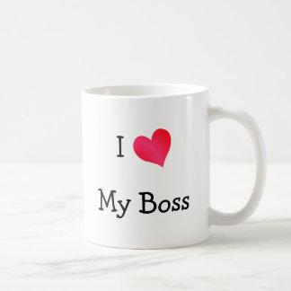 Eu amo meu chefe caneca