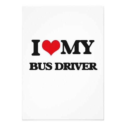 Eu amo meu condutor de autocarro convite