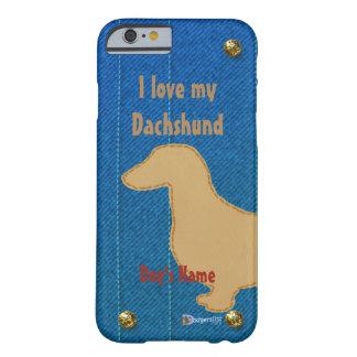 Eu amo meu dachshund capa barely there para iPhone 6