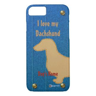 Eu amo meu dachshund capa iPhone 8/7