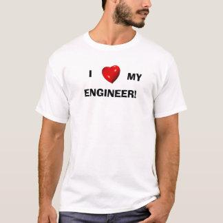Eu amo meu engenheiro! t-shirts