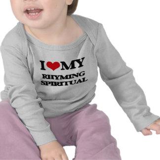 Eu amo meu ESPIRITUAL de RIMA T-shirts