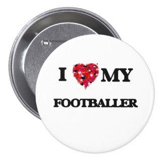 Eu amo meu jogador de futebol bóton redondo 7.62cm