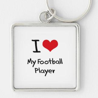 Eu amo meu jogador de futebol chaveiro