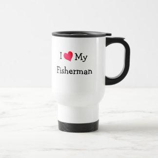 Eu amo meu pescador caneca