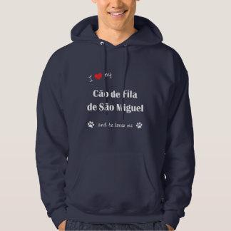 Eu amo meu Sao Miguel de Cao de Filamento de (o Moletom Com Capuz