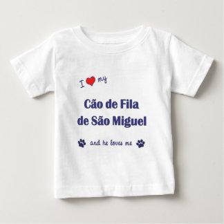 Eu amo meu Sao Miguel de Cao de Filamento de (o Camisetas