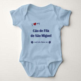 Eu amo meu Sao Miguel de Cao de Filamento de (o T-shirts