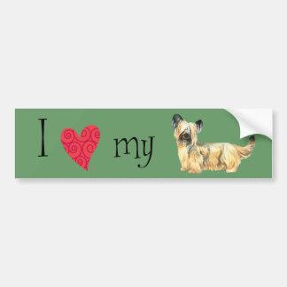 Eu amo meu Skye Terrier Adesivo Para Carro