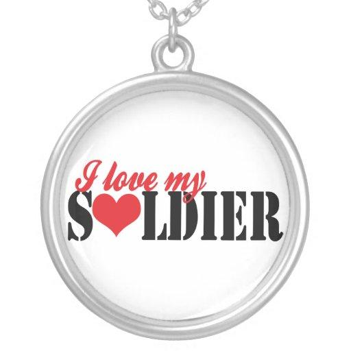 Eu amo meu soldado colar