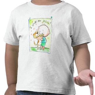 Eu amo meu t-shirt do cão