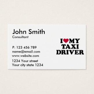Eu amo meu taxista cartão de visitas