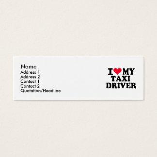 Eu amo meu taxista cartão de visitas mini