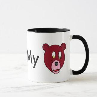 """""""Eu amo meu urso """" Caneca"""