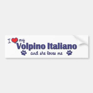 Eu amo meu Volpino Italiano (o cão fêmea) Adesivo Para Carro